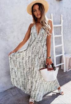 Γυναικείο μακρύ χαλαρό φόρεμα 2136502