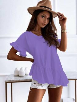 Γυναικείο εντυπωσιακή μπλούζα 00823 μωβ