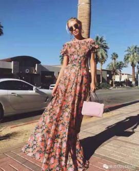 Γυναικείο μακρύ φόρεμα με print 5538