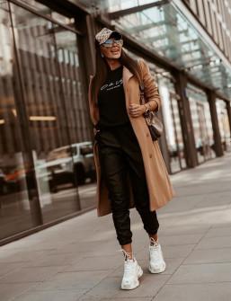 Γυναικείο παλτό με κουμπιά από τις δυο πλευρές 5356 καμηλό
