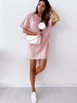 Γυναικείο μπλουζοφόρεμα 14513 ροζ