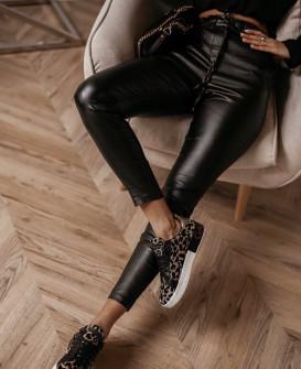 Γυναικείο παντελόνι δερματίνης 3695 μαύρο