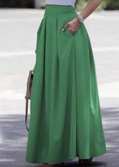 Γυναικεία μακριά φούστα 5002 πράσινη