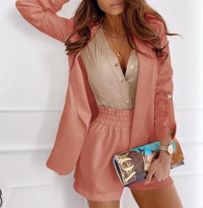 Γυναικείο σετ σακάκι και παντελόνι 5045 κοραλί