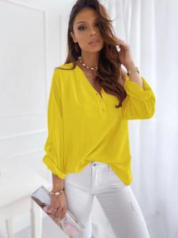 Γυναικείο χαλαρό πουκάμισο 5019 κίτρινο