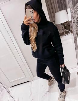 Γυναικείο σετ φούτερ και φόρμα 14137 μαύρο