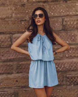 Γυναικείο κοντό φόρεμα 88199 γαλάζιο