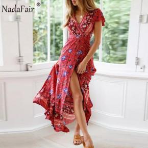 Γυναικείο φόρεμα κρουαζέ με έθνικ σχέδια 559901