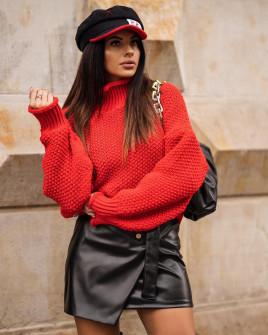 Εντυπωσιακό πουλόβερ 2088 κόκκινο