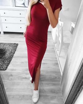 Γυναικείο φόρεμα 12277 μπορντό