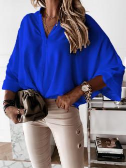 Γυναικεία χαλαρή μπλούζα 5287 μπλε