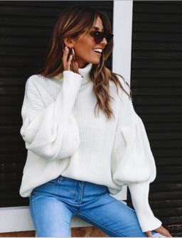Γυναικείο πουλόβερ ζιβάγκο 2530 άσπρο