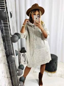 Γυναικείο μπλουζοφόρεμα ζιβάγκο 8397 μπεζ