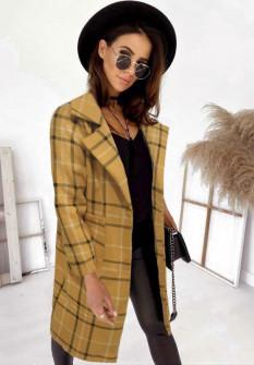 Γυναικείο παλτό 7090 μουσταρδί