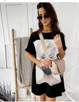 Γυναικείο μπλουζοφόρεμα με στάμπα 215608