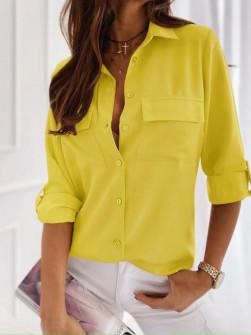 Γυναικείο πουκάμισο 5031 κίτρινο
