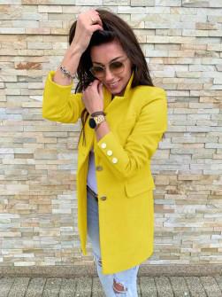Γυναικείο σακάκι με χρυσά κουμπιά 5016 κίτρινο