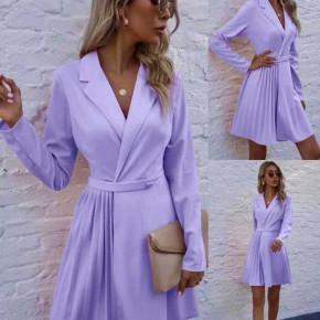 Γυναικείο εντυπωσιακό φόρεμα 8064 ανοιχτό μωβ