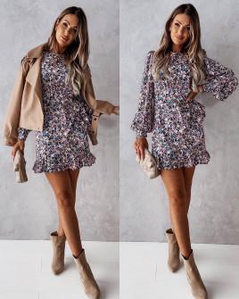 Γυναικείο φόρεμα κρουαζέ με print 2175203