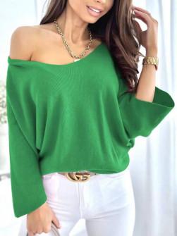 Γυναικεία χαλαρή μπλούζα 00702 πράσινο