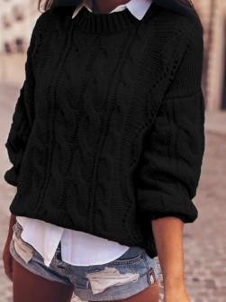 Γυναικείο εντυπωσιακό πουλόβερ 8053 μαύρο