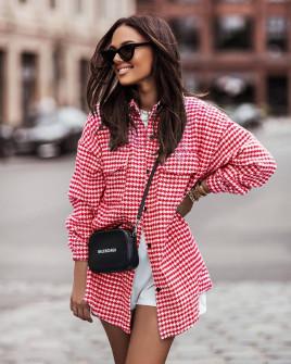 Γυναικείο πουκάμισο πτι καρό 5900 κόκκινο