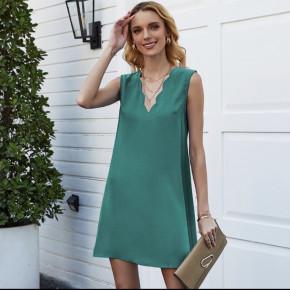 Γυναικείο φόρεμα με βαθύ ντεκολτέ 5198 τυρκουάζ