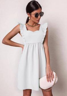 Γυναικείο φόρεμα με εντυπωσιακό ντεκολτέ 20510 άσπρο