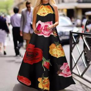 Γυναικείο plus size φόρεμα 21470 μαύρο