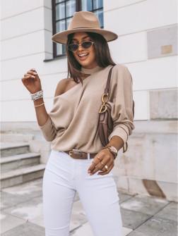 Γυναικεία εντυπωσιακή μπλούζα 4118 μπεζ