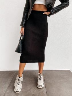 Γυναικεία ελαστική φούστα 4043 μαύρη