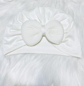 Βρεφικό σκουφάκι με φιόγκο 5051145 άσπρο