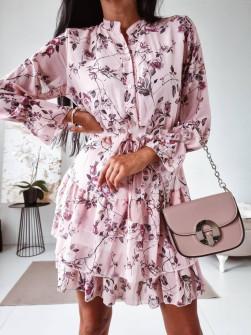 Γυναικείο φόρεμα με print και κουμπιά 397501