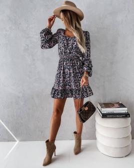 Γυναικείο φόρεμα με print 596701
