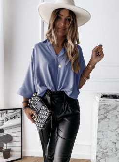Γυναικεία χαλαρή μπλούζα 5287 γαλάζια