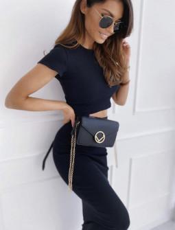 Γυναικείο σετ φούστα και μπλούζα 2396 μαύρο