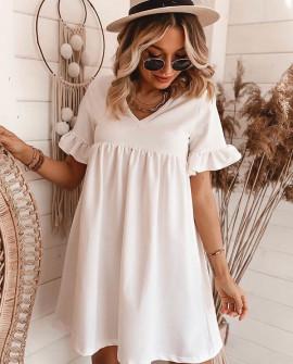 Γυναικείο φόρεμα 3851 άσπρο