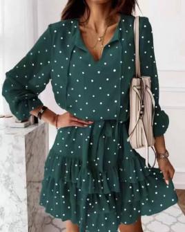 Γυναικείο πουα φόρεμα 56303 πράσινο