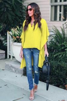 Γυναικείο μπλουζοφόρεμα 3561 κίτρινο
