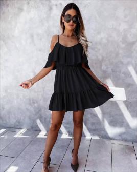 Γυναικείο κοντό κλος φόρεμα 5700 μαύρο