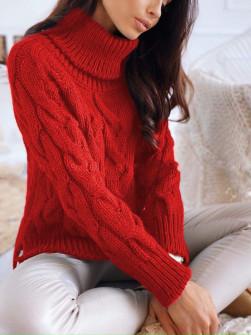 Εντυπωσιακό πουλόβερ 8087 κόκκινο