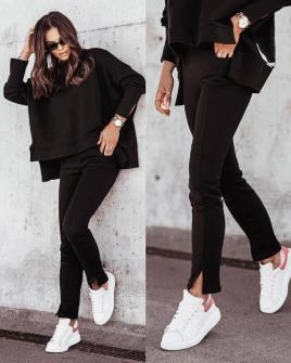 Γυναικείο σετ μπλούζα και παντελόνι 21297 μαύρο