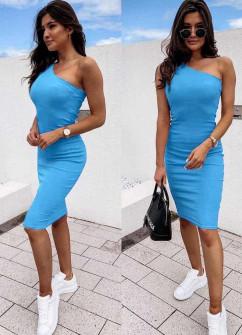 Γυναικείο έξωμο φόρεμα 5124 μπλε ανοιχτό