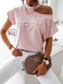 Γυναικεία εντυπωσιακή μπλούζα 3843 ροζ