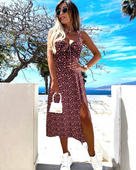Γυναικείο φόρεμα με σκίσιμο 629401