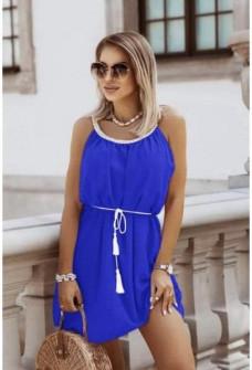 Γυναικείο φόρεμα με ζώνη 8030 μπλε