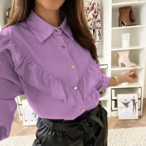 Γυναικείο εντυπωσιακό πουκάμισο 3551 μωβ