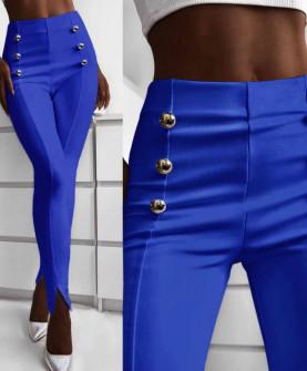 Γυναικείο παντελόνι με σκισίματα 5517 μπλε