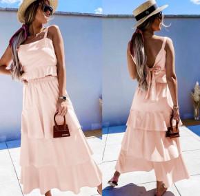 Γυναικείο σετ φούστα και τοπάκι 5761 ροζ ανοιχτό