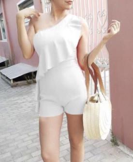 Γυναικεία ολόσωμη φόρμα 5154 άσπρο